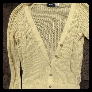 💜BDG yellow knit cardigan